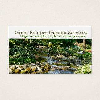 Negócio de jardinagem do Landscaper da água do Cartão De Visitas