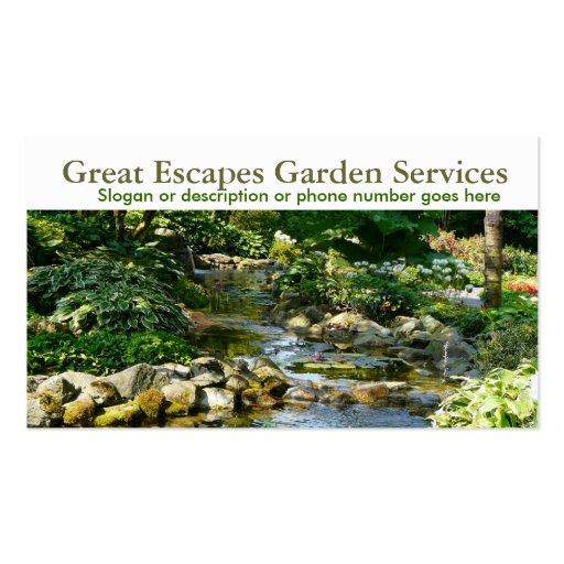 Negócio de jardinagem do Landscaper da água do jar Cartão De Visita