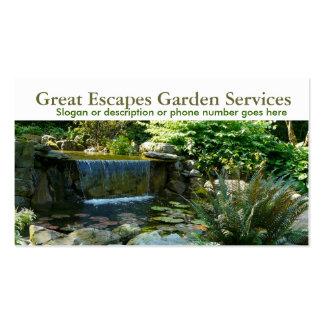 Negócio de jardinagem do Landscaper da água do jar Modelo Cartões De Visitas