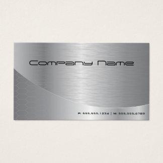 Negócio de prata escovado moderno elegante cartão de visitas