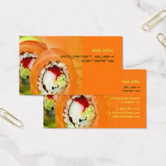 Negócio de restauração do sushi do gourmet de Nobu Cartão De Visitas
