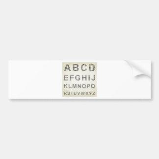 Negócio do alfabeto adesivo para carro