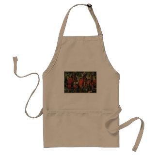 Negócio do art deco do vintage, trabalhadores de avental