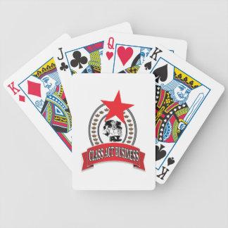 negócio do ato da classe do cozinheiro chefe baralhos de poker
