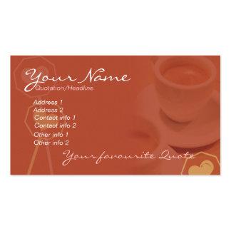 Negócio do café & cartão pessoal #02 cartão de visita