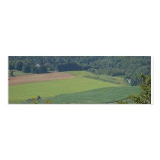 negócio do cartão verde do vale mini rural cartão de visita skinny