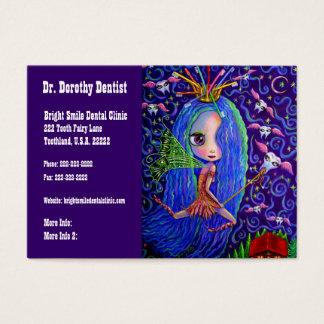 Negócio do dentista e fada de dente do cartão das