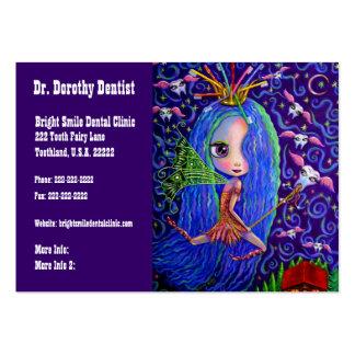Negócio do dentista e fada de dente do cartão das  modelos cartoes de visita
