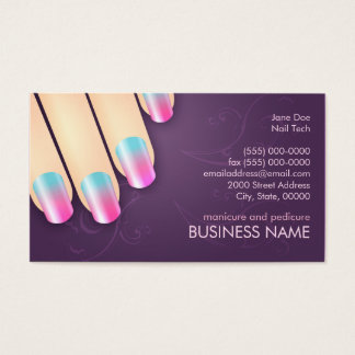 Negócio do manicuro & modelo do cartão da nomeação