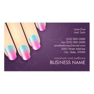 Negócio do manicuro & modelo do cartão da nomeação cartão de visita