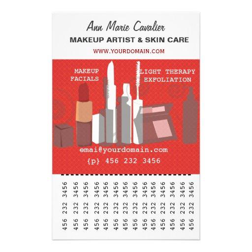 Negócio do maquilhador da beleza da forma panfletos personalizado