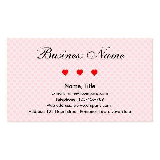 Negócio do romance cartão de visita