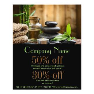 negócio do salão de beleza dos produtos do bambooS Modelo De Panfletos