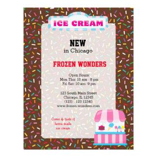 Negócio do sorvete flyer 21.59 x 27.94cm
