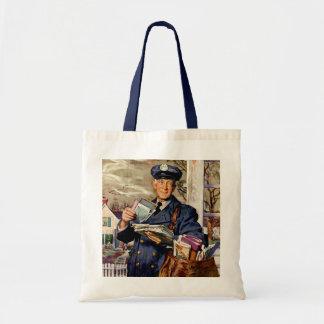 Negócio do vintage, fornecimento do portador de co bolsa de lona