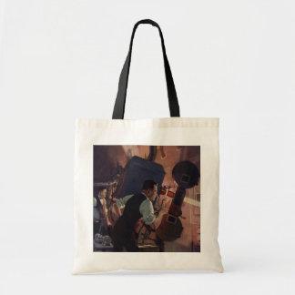 Negócio do vintage, projetista em um cinema bolsas