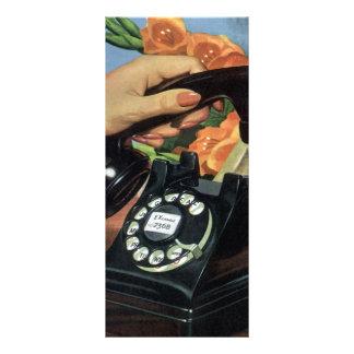 Negócio do vintage, telefone do seletor giratório 10.16 x 22.86cm panfleto