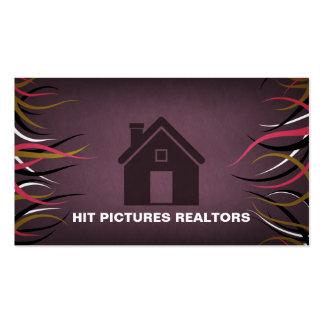 Negócio dos bens imobiliários do contratante de cartão de visita