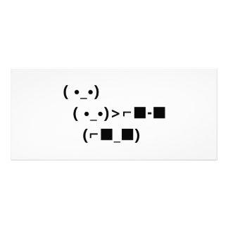 Negócio dos óculos de sol do ASCII Unicode com ele 10.16 X 22.86cm Panfleto