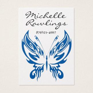 Negócio elegante da borboleta - cartão de visita