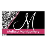 Negócio elegante do monograma - cartão de visita