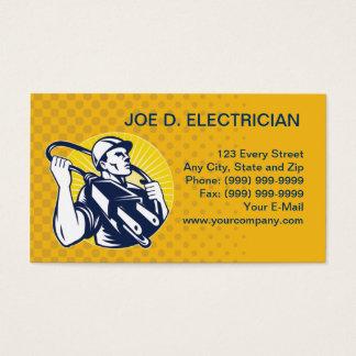 negócio elétrico do trabalhador do lineman do cartão de visitas