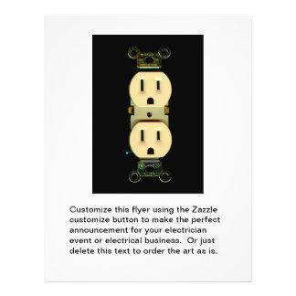 Negócio elétrico dos eletricistas da tomada do con panfletos personalizados