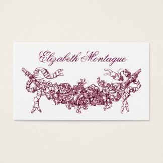 Negócio floral cor-de-rosa ou cartão telefónico do