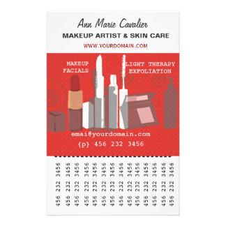Negócio lindo do maquilhador da beleza da forma flyer 13.97 x 21.59cm