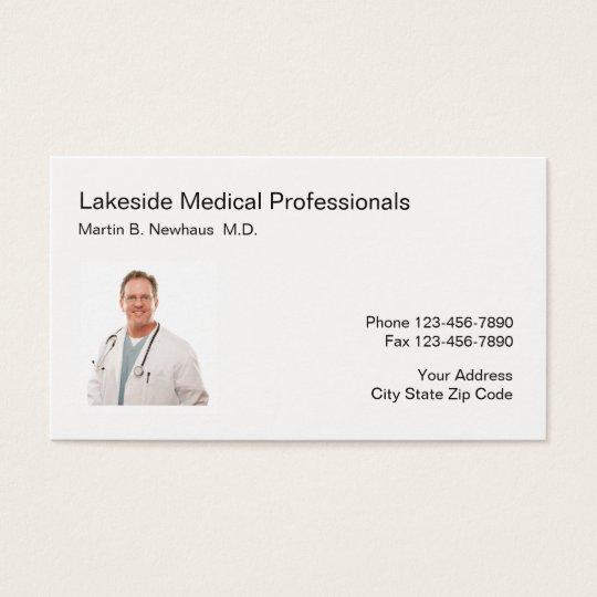 Negócio médico da foto do escritório cartão de visitas