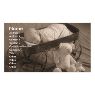 Negócio ou anúncio do bebê cartão de visita
