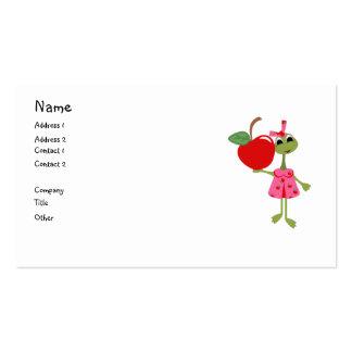 Negócio personalizado/Cartão-Professor & Apple da  Cartao De Visita