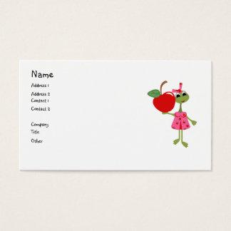 Negócio personalizado/Cartão-Professor & Apple da Cartão De Visitas