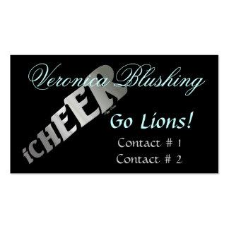 Negócio preto/cartão telefónico do cheerleader modelos cartoes de visitas