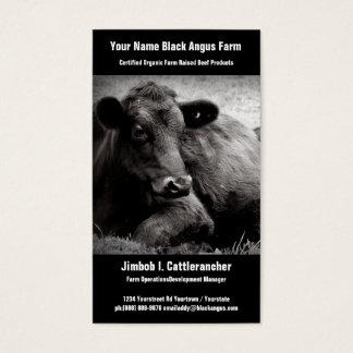 Negócio preto do rancho ou da fazenda da carne de cartão de visitas