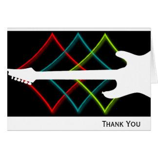 Negócio quente da guitarra da cor do pop cartão de nota