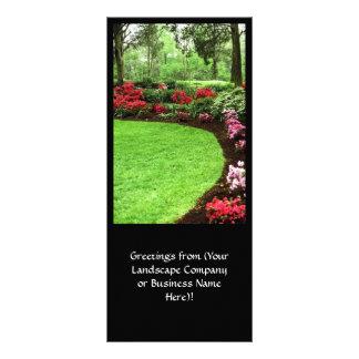 Negócio rico do cuidado do gramado da paisagem panfleto informativo