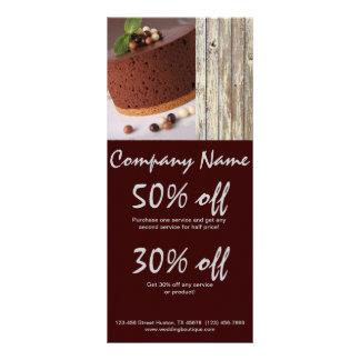 negócio rústico da padaria do país do bolo de choc 10.16 x 22.86cm panfleto