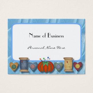Negócio Sewing, cartão pessoal