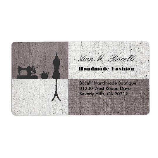 Negócio Sewing Handmade do artesanato da roupa de Etiqueta De Frete