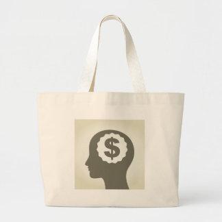 Negócio uma cabeça bolsa tote grande
