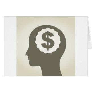 Negócio uma cabeça cartão comemorativo