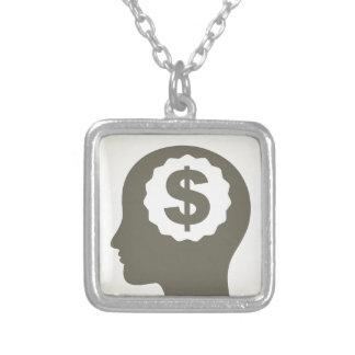 Negócio uma cabeça colar banhado a prata
