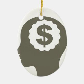 Negócio uma cabeça ornamento de cerâmica