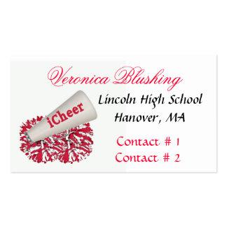 Negócio vermelho/cartão telefónico do cheerleader cartao de visita
