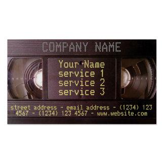Negócio vídeo áudio do cartão de visita retro de
