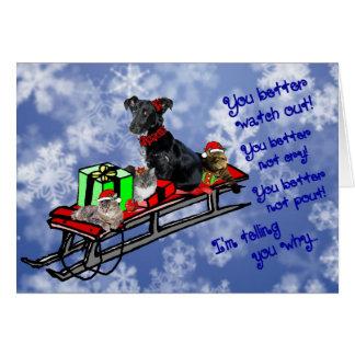 Nenhum amuar! ~Holidays Cartão Comemorativo