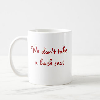 Nenhum banco traseiro caneca de café