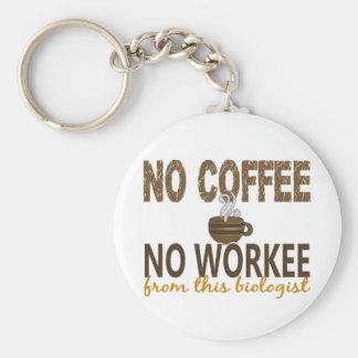 Nenhum café nenhum biólogo de Workee Chaveiro