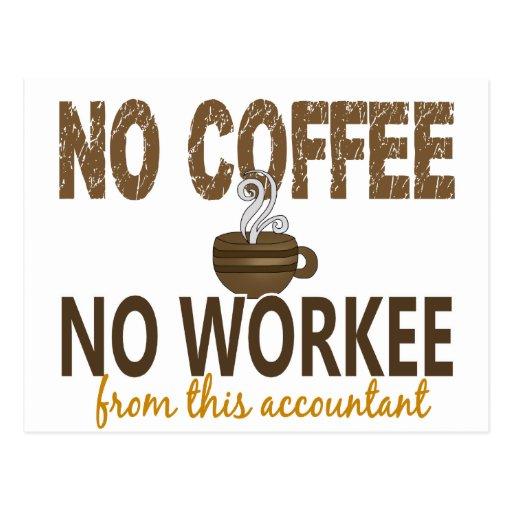 Nenhum café nenhum contador de Workee Cartao Postal
